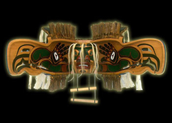Native Indian Art - Ceremonial Transformation Masks - Kolus Mask