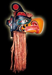 Native Indian Art - Ceremonial Transformation Masks - Thunderbird Mask
