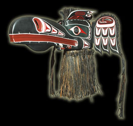 Native Indian Art - Ceremonial Transformation Masks - Thunderbird