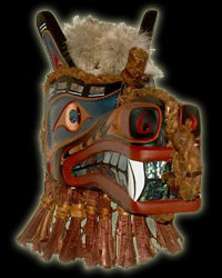 Native Indian Art - Wolf Mask
