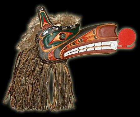 Canadian Native Indian Art - Wolf mask